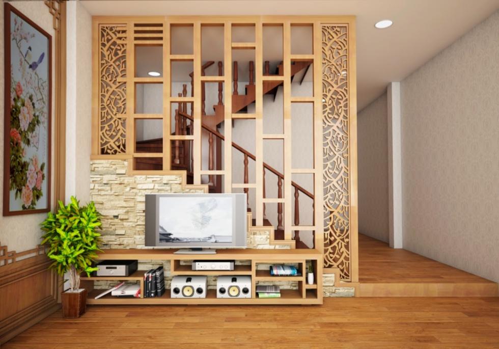 vách ngăn gỗ công nghiệp veneer