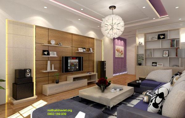 Thiết kế nội thất phòng khách tại chung cư Ecolife Tố Hữu Hà Đông