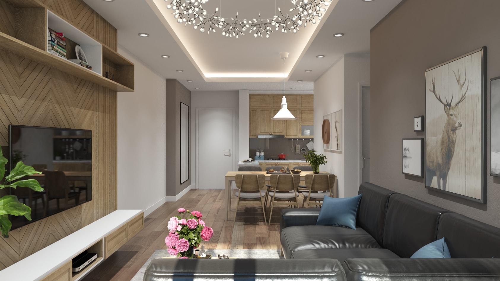 Mẫu thiết kế nội thất căn hộ chung cư Ngoại Giao Đoàn