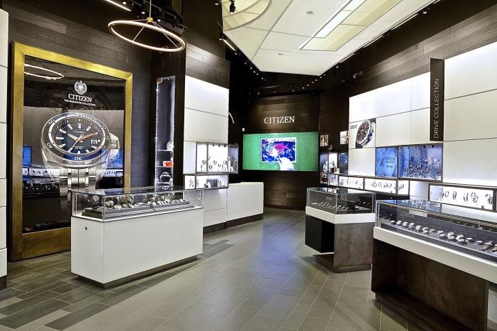 Thiết kế nội thất showroom đồng hồ đẹp, sang trọng