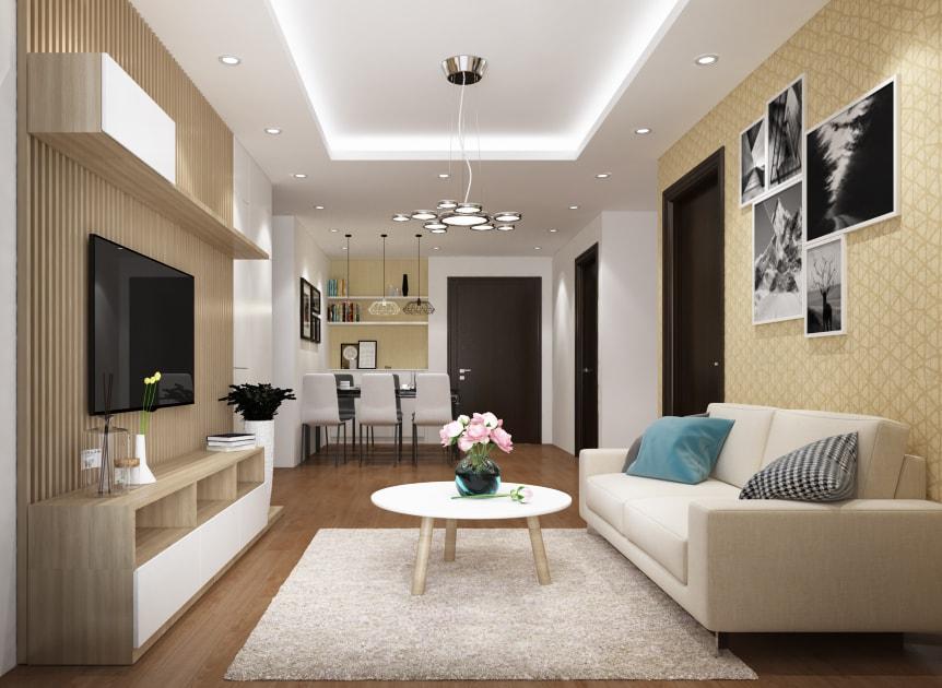 Thiết kế nội thất chung cư Home City - nhà anh Nam