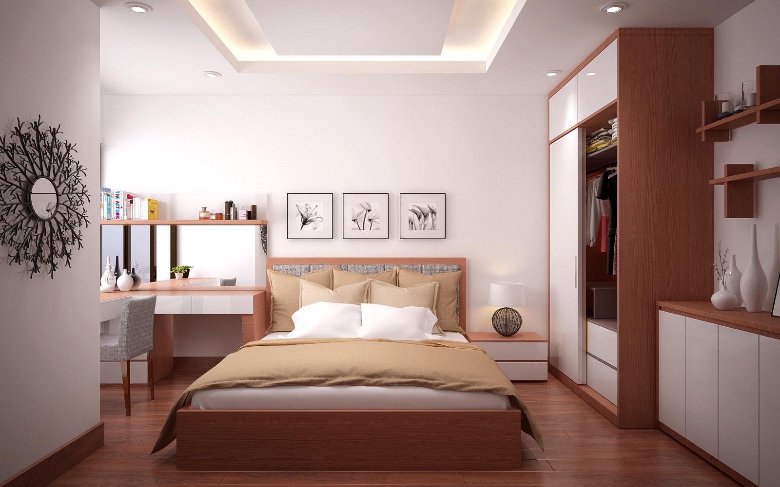 Tủ quần áo gỗ công nghiệp cho căn hộ chung cư hiện đại