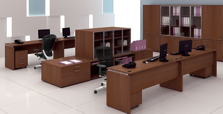 Thiết kế phòng làm việc với nội thất gỗ tự nhiên, văn phòng tại Hà Đông