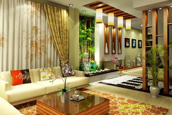 Thiết kế nội thất phòng khách chung cư Hateco Hoàng Mai