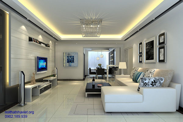 Thiết kế nội thất phòng khách chung cư Dương Nội, Hà Đông