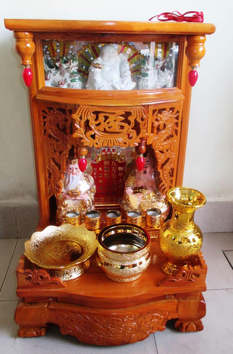 Lựa chọn kích thước bàn thờ Thần Tài Ông Địa đem lại nhiều tài lộc