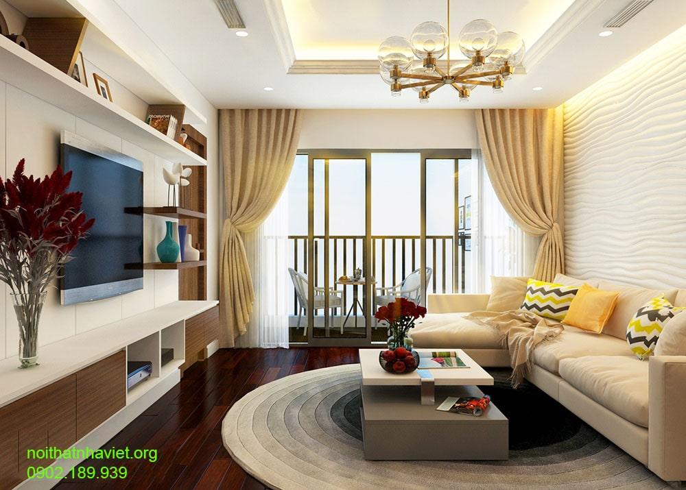Thiết kế nội thất phòng khách đẹp, gia đình anh Nam quận Hai Bà Trưng