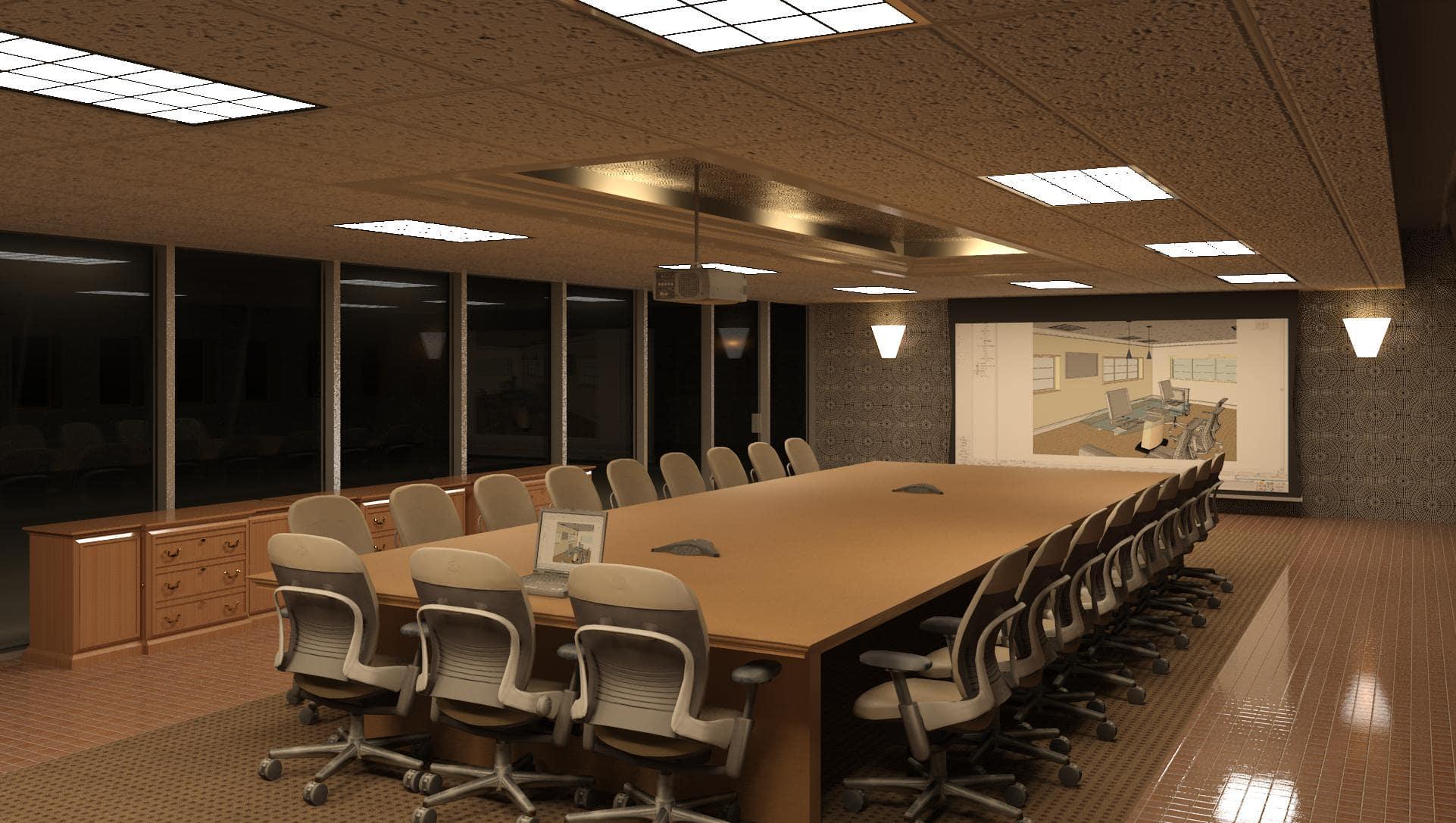 Thiết kế nội thất phòng họp đẹp và sang trọng