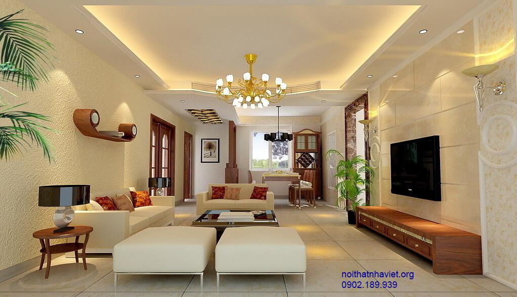 Thiết kế nội thất chung cư nhà anh Đạt
