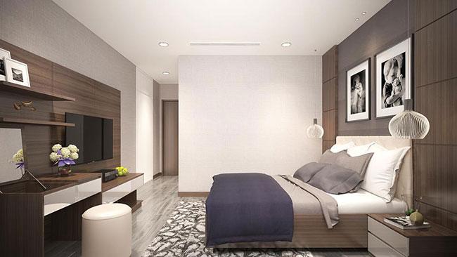 Thiết kế nội thất phòng ngủ chung cư Xuân Mai Riverside Mỗ Lao Hà Đông