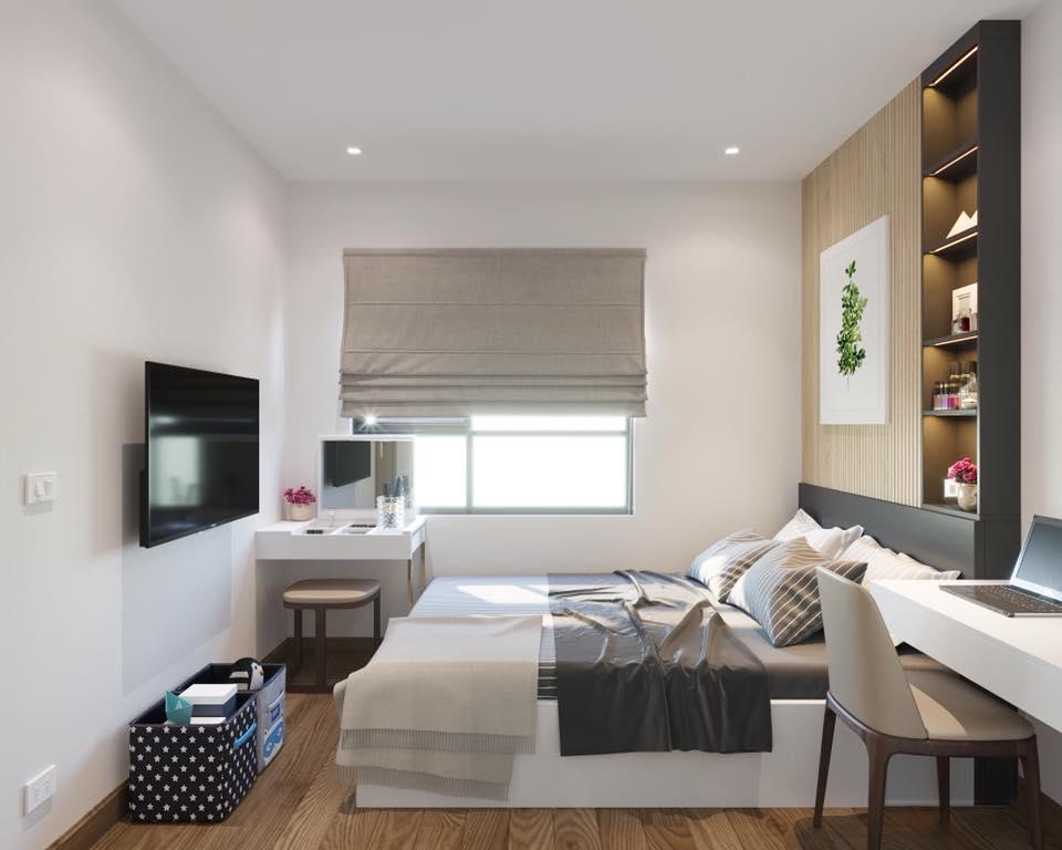 Thiết kế nội thất phòng ngủ chung cư Mai Dịch - gia đình chị Tâm