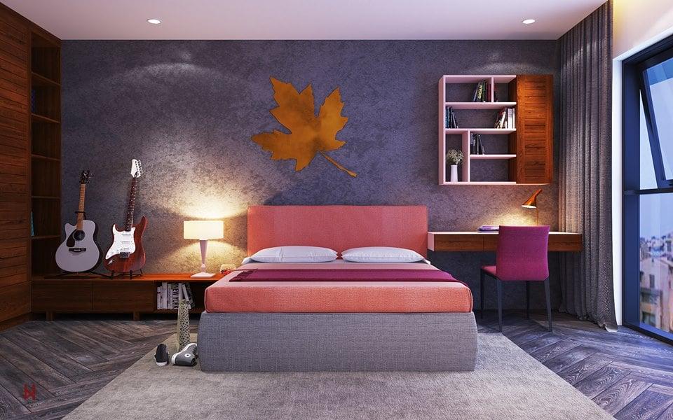 Khám phá nội thất phòng ngủ lãng mạn, hiện đại - gia đình chị Ngọc