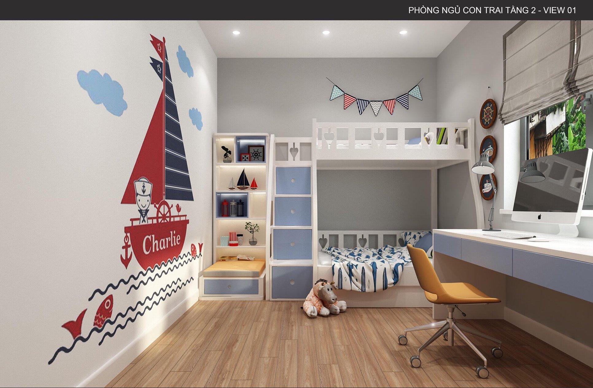 Những điều cần lưu ý khi thiết kế nội thất phòng ngủ cho bé