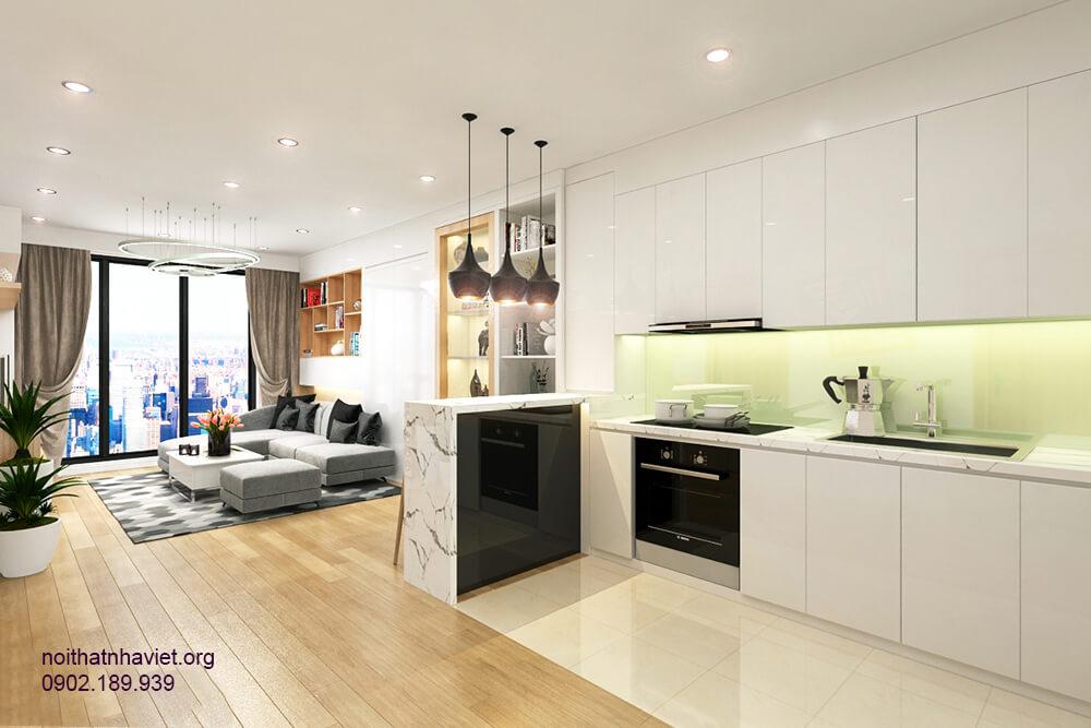 Thiết kế nội thất phòng bếp tại chung cư Ecolefe Tố Hữu Hà Đông