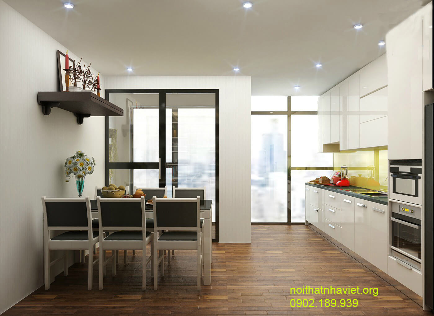 Thiết kế nội thất phòng khách chung cư Goldmark City Hồ Tùng Mậu