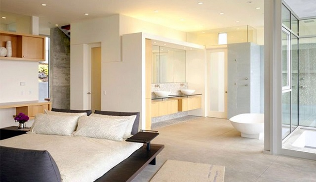 Có nên xây nhà vệ sinh trong phòng ngủ - các mẫu bố trí chuẩn nhất
