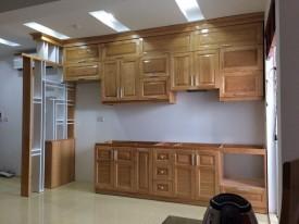 tủ bếp gỗ sồi 08