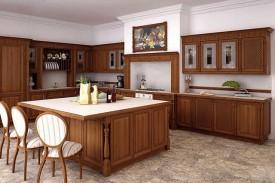 Tủ bếp gỗ gõ đỏ 05