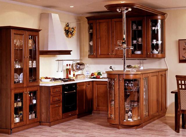Tủ bếp gỗ gõ đỏ 07