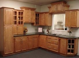 Tủ bếp gỗ gõ đỏ 09