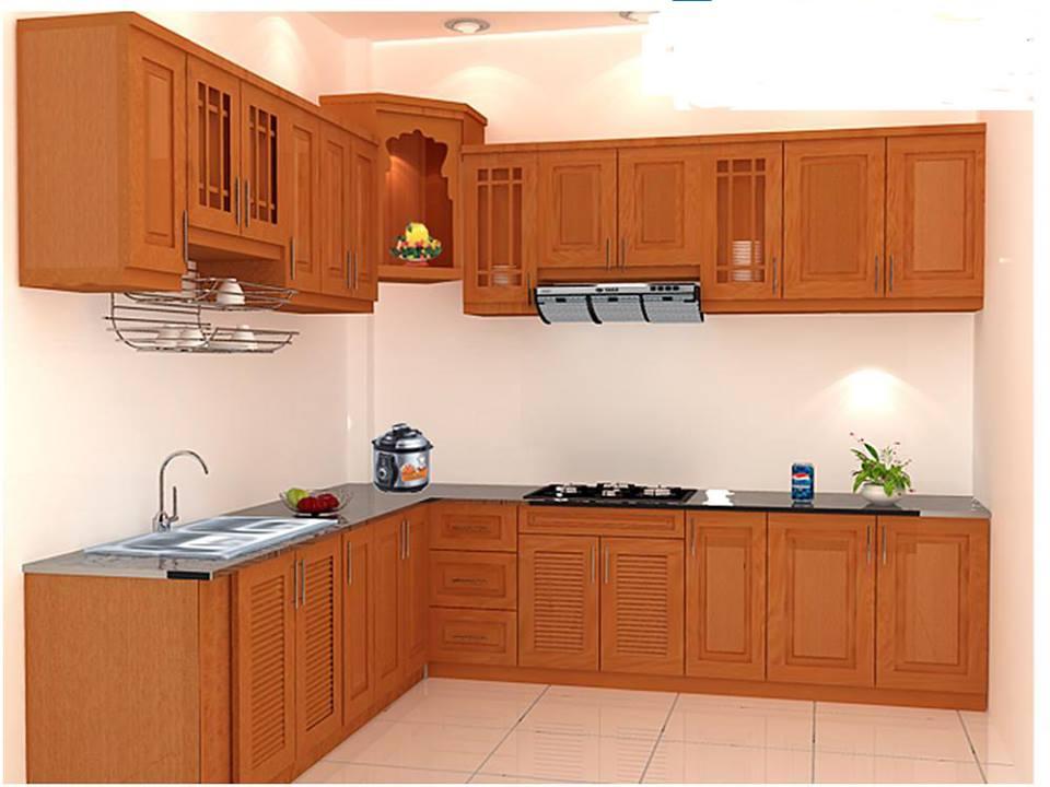 Tủ bếp gỗ gõ đỏ 10