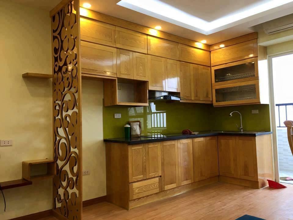 Tủ bếp gỗ sồi 05