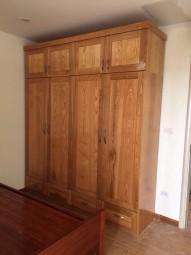 Tủ quần áo gỗ sồi 04