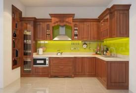 Tủ bếp gỗ sồi 06