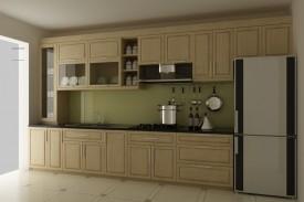 Tủ bếp gỗ sồi 01