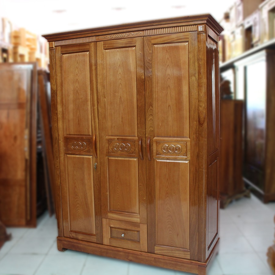 Tủ quần áo gỗ sồi Nga giá rẻ