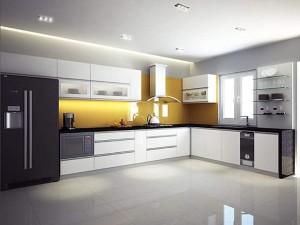 Tủ bếp gỗ MDF chống ẩm sơn 02