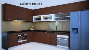 Tủ bếp gỗ laminate 01