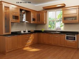 Tủ bếp gỗ xoan đào 01