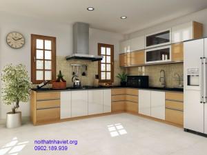 Tủ bếp gỗ công nghiệp 08