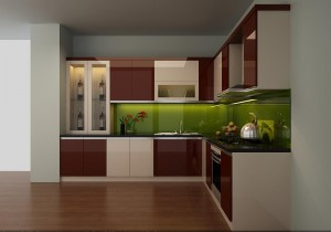 Tủ bếp Acrylic 05
