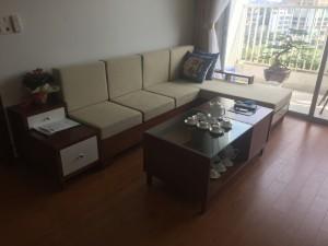 Sofa gỗ bọc nỉ