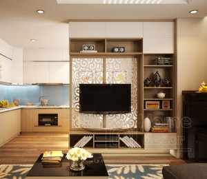 Kệ tivi kết hợp tủ trang trí