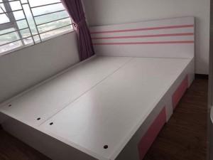 Giường gỗ công nghiệp phủ melamin 04