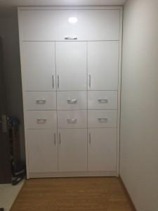 Tủ giày kết hợp tủ để đồ gỗ MFC An Cường