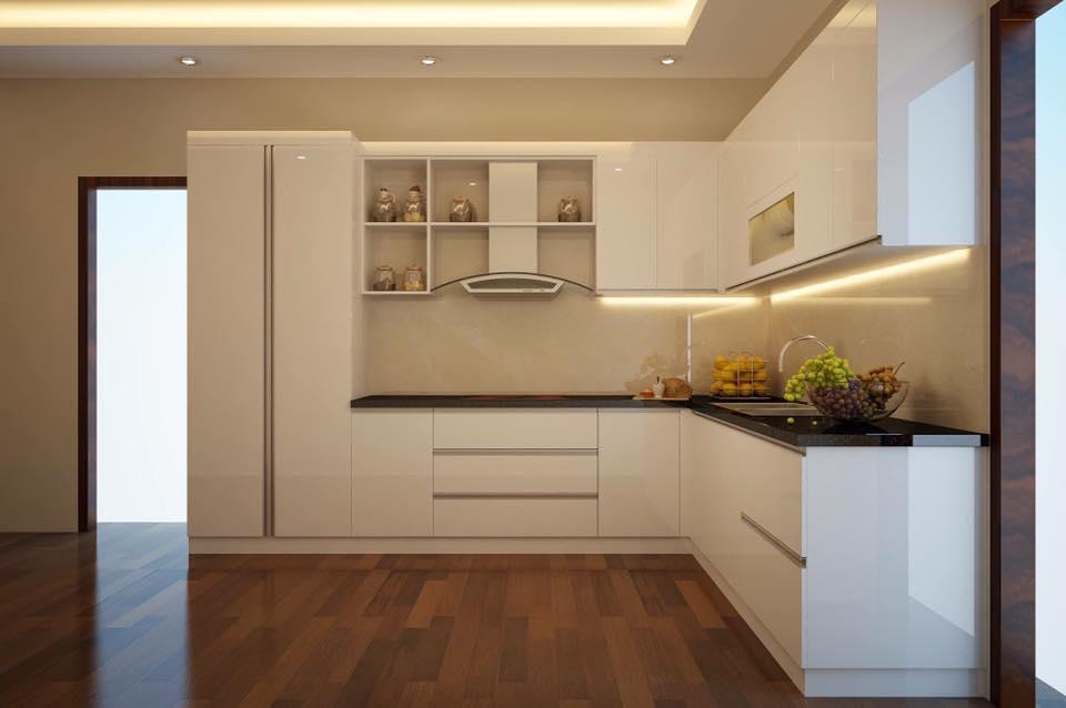 Tủ bếp gỗ MDF chống ẩm sơn 05