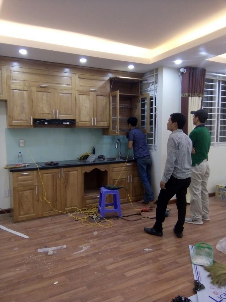 Tủ bếp gỗ tần bì 03