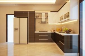 Tủ bếp gỗ laminate 03