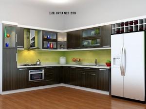 Tủ bếp gỗ laminate 04