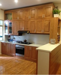 Tủ bếp gỗ sồi  19