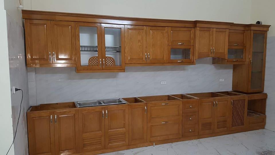 Tủ bếp gỗ sồi  21