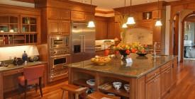 Tủ bếp gỗ gõ đỏ 01