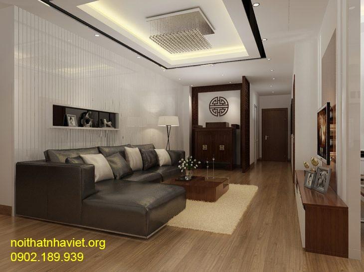 Thiết kế nội thất phòng khách tại chung cư Goldmark City