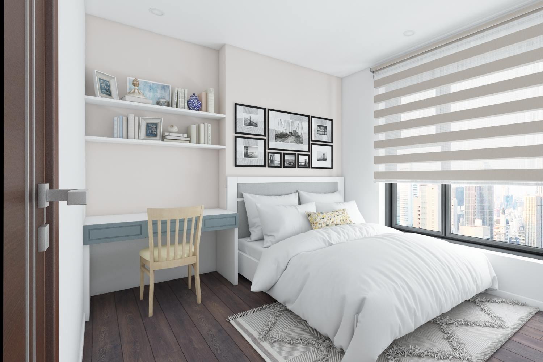 Thiết kế nội thất phòng ngủ chung cư hiện đại cao cấp - gia đình chị Mai