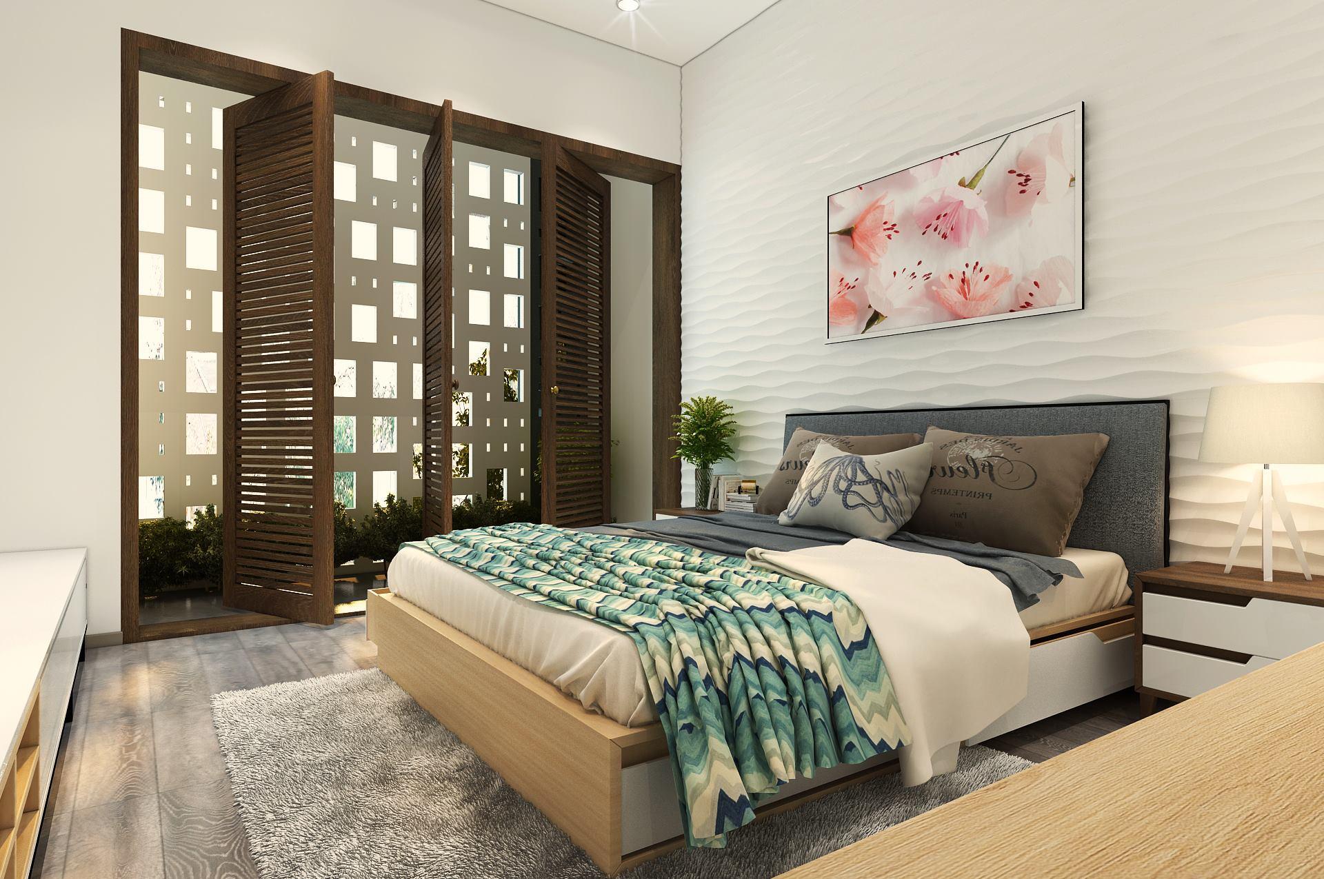 Thiết kế phòng ngủ đẹp cho chung cư nhà ống - gia đình anh Phú