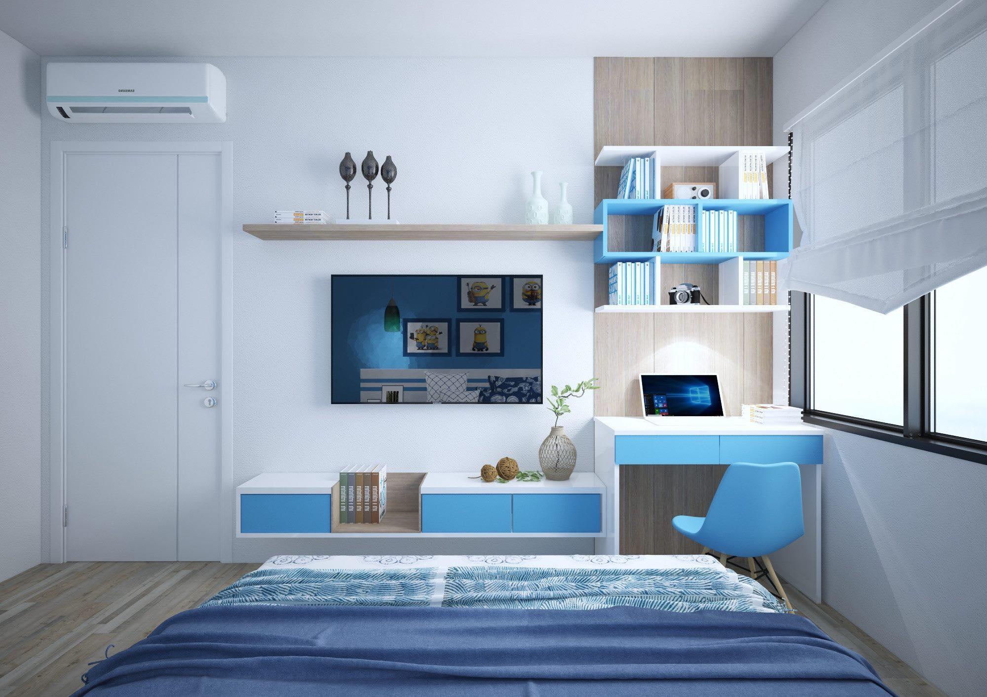 Thiết kế nội thất phòng ngủ năng động cho bé trai-gia đình chị Ngọc Anh